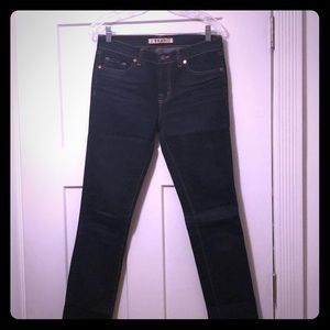 J BRAND high rise dark wash skinny jeans